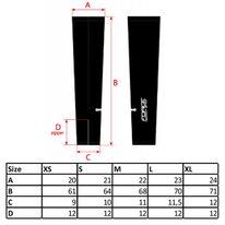 Kojų pašiltinimai FORCE Term (juodi) dydis XL
