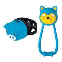 Žibintų komplektas KLS Animal, su baterijomis (mėlyna)