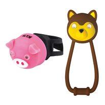 Žibintų komplektas KLS Animal, su baterijomis (ruda/rožinė)