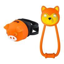 Žibintų komplektas KLS Animal, su baterijomis (oranžinė)