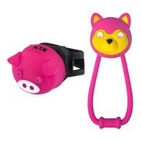 Žibintų komplektas KLS Animal, su baterijomis (rožinė)