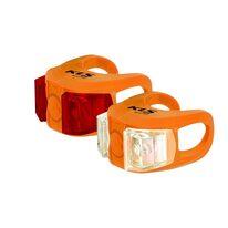 Žibintų komplektas KLS Twins, su baterijomis (oranžinis)