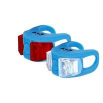 Žibintų komplektas KLS Twins, su baterijomis (mėlynas)