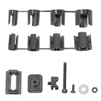 Mudguard front mounting kit FORCE Ward (black)