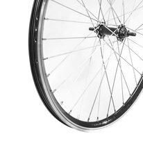 """Priekinis ratas 24"""" Dynamic dvigubas juodas ratlankis, juoda plieninė stebulė 36H, V-brake"""