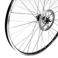 """Priekinis ratas 26"""" 36H GULI stebulė su pramoniniais guoliais, V-brake arba diskiniams stabdžiams, su disku"""