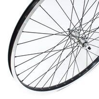 """Priekinis ratas 26"""" sidabrinė GULI stebulė, su pramoniniais guoliais, V-brake"""