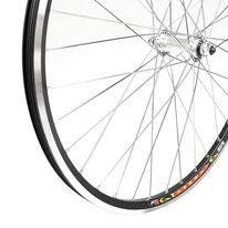 """Priekinis ratas 28"""" 36H sidabrinė stebulė, dvigubas Stars Circle ratlankis su kniedėmis, V-brake"""