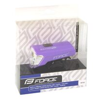 Priekinis žibintas FORCE Extra USB 1LED (violetinis)