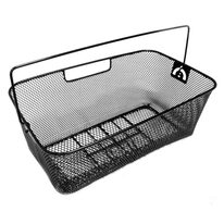 Rear carrier basket 45x26x16,5cm (metal, black)