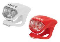 Задний + передний LED фары FORCE (белый,красный)