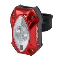Rear light FORCE Red 1 Cree LED 60Lm, USB