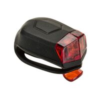 Rear light 'nfun 2 LED 4 functions (silicone, black)