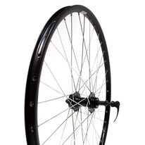 "Rear wheel 26"" 36H Guli hub, black double RYDE rim, disc brake"