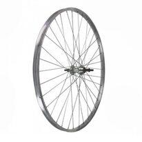 Galinis ratas 26'' MTB 6/7 pavarų užsukamas žv. blokas (sidabrinis)