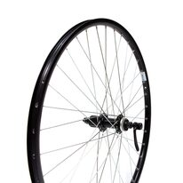 "Rear wheel 26"" Ryde rim, Shimano TX505 hub, Center Lock, cassette"