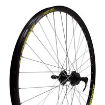 "Rear wheel 27.5"" 36H aluminum hub, Alexrims FR30 rim, disc, 6 screws, quickrelease"