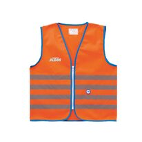 Reflective kids vest KTM (orange) S