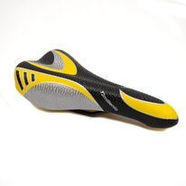 Saddle Monte Grappa 270x140mm (black/silver/yellow)