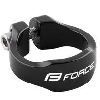 Balnelio stovo užveržimas FORCE Logo 31.8 mm aliuminis (juodas)