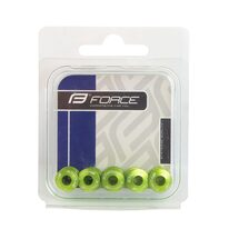 Screws FORCE for chainring 5pcs set (green)
