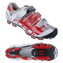 Cycling shoes FORCE MTB Free (white/red)