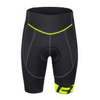 Shorts FORCE B30 with pad (black/fluorescent) L