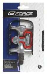 Dvipusiai pedalai FORCE + plokštelės (aliuminiai)