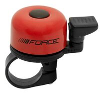 Skambutis FORCE Mini 22,2mm (geležis/plastikas, raudonas)