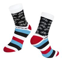Socks FORCE CYCLE (white) L-XL/42-46