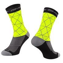 Kojinės FORCE Evoke (fluorescencinės/juoda) L-XL 42-46