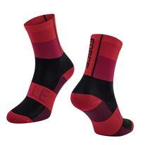 Kojinės FORCE Hale, (raudona/juoda) L-XL 42-47