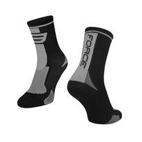 Kojinės FORCE Long (juoda/pilka)
