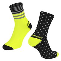 Socks FORCE SPOT (black/fluorescent) L-XL/42-46