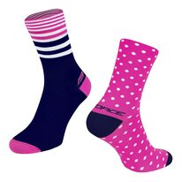 Socks FORCE SPOT (pink/blue) S-M/36-41