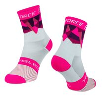 socks FORCE TRIANGLE (white/pink) (36-41) S-M