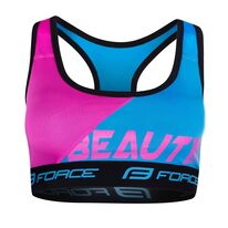 Sports bra FORCE BEAUTY M (blue/pink)