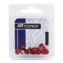 Stabdžių disko varžtai FORCE Torx 25 (12vnt, raudoni)