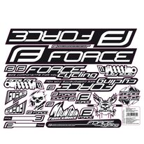 Stickers FORCE Mad for bike frame 37x27cm