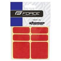 Stickers FORCE Reflekton (6 pcs, red)