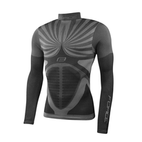Thermal underwear jersey with long sleeves FORCE Snowstorm (black) L-XL