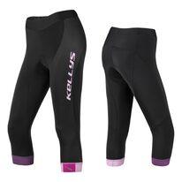 Kelnės 3/4 KLS Maddie moteriškos, su paminkštinimu (juoda/rožinė) L