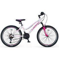 """UMIT Lavida Lady V-brake 24"""" size 13"""" (33cm) (white/pink)"""