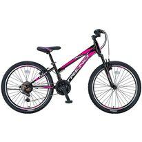 """UMIT Trend Lady MSV V-brake 24"""" dydis 12"""" (30.5cm) (juoda/rožinė)"""