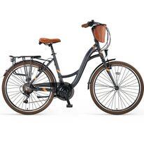 """UMIT Valencia Lady V-brake 26"""" size 18,5"""" (47cm) (grey/brown)"""