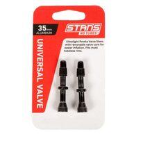Ventiliai Stan's NoTubes bekamerinėms padangoms 35mm (juodi)