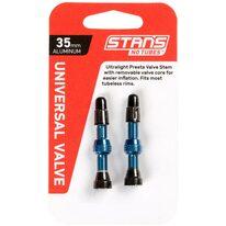 Ventiliai Stan's NoTubes bekamerinėms padangoms 35mm (mėlyni)