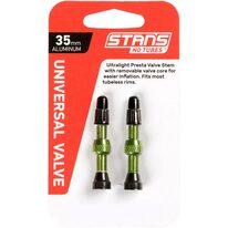 Ventiliai Stan's NoTubes bekamerinėms padangoms 35mm (žali)