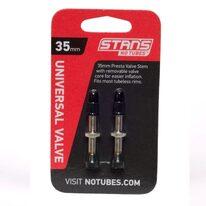 Ventiliai Stan's NoTubes bekamerinėms padangoms 35mm (sidabriniai)