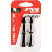 Ventiliai Stan's NoTubes bekamerinėms padangoms 55mm (juodi)